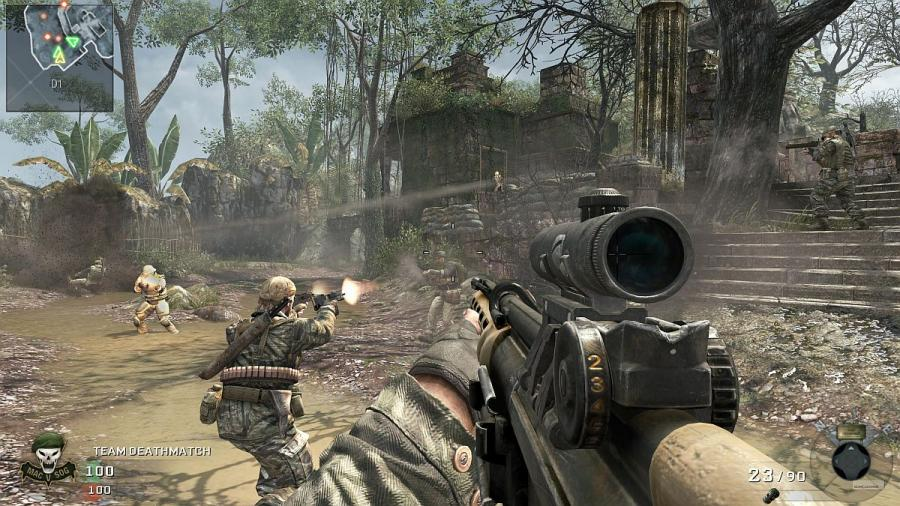 Call of Duty. A first person shooter.