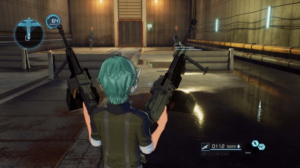 Dual weapon capability in Fatal Bullet.