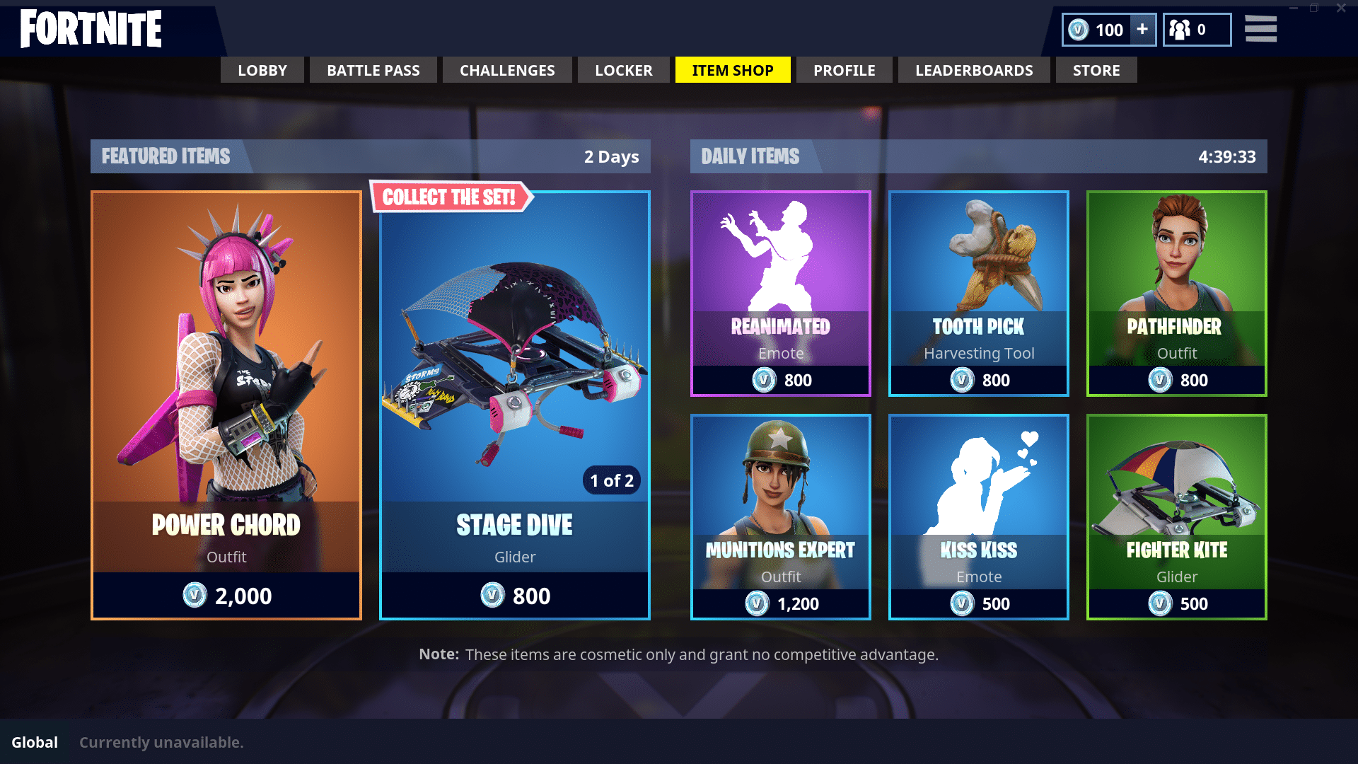 Fortnite Cash shop