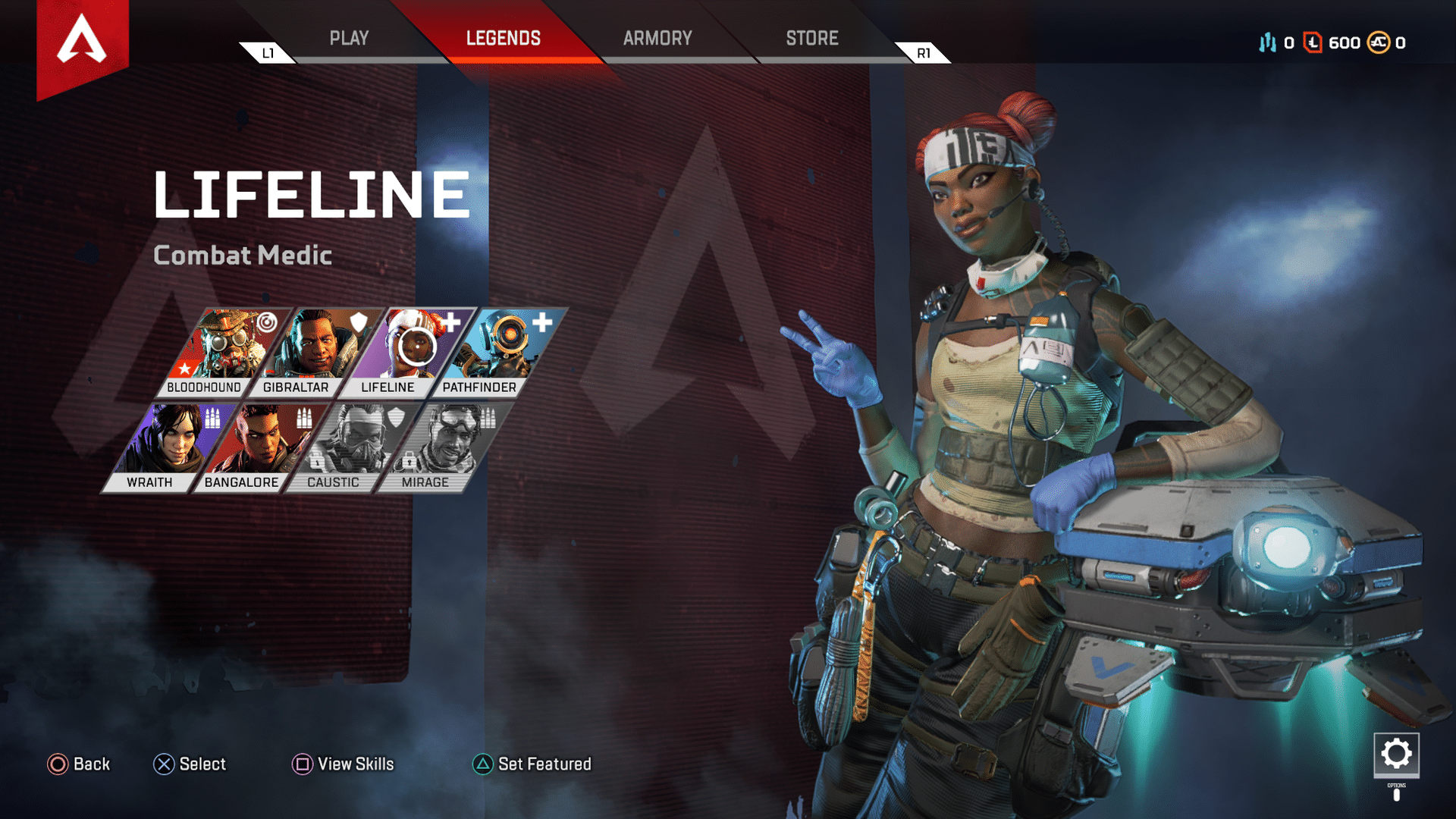 The character roster in Apex Legends