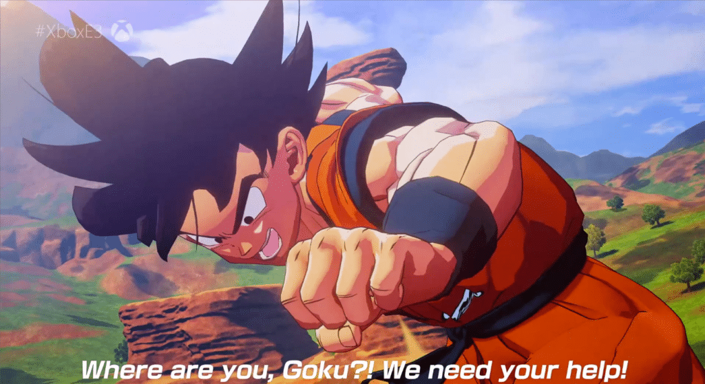 Goku in Project Z.