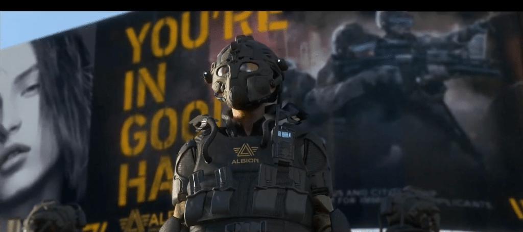An officer in Watch Dogs Legion