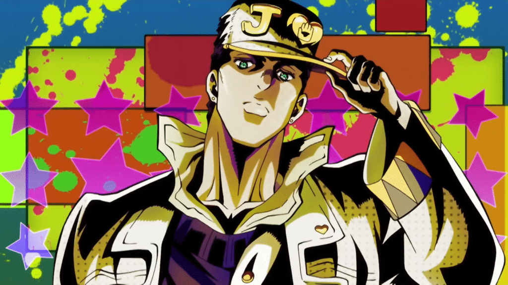 Jotaro Kujo from JoJo's Bizarre Adventure.