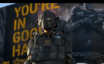 An officer in Watch Dogs Legion